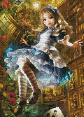 cross stitch pattern Mini Dear Alice (Crop)