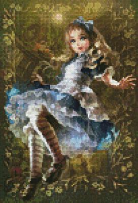 cross stitch pattern Mini Floating Alice
