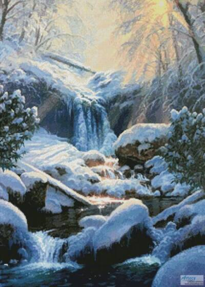 cross stitch pattern Mystic Falls Winter