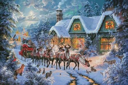 cross stitch pattern Magic of Christmas
