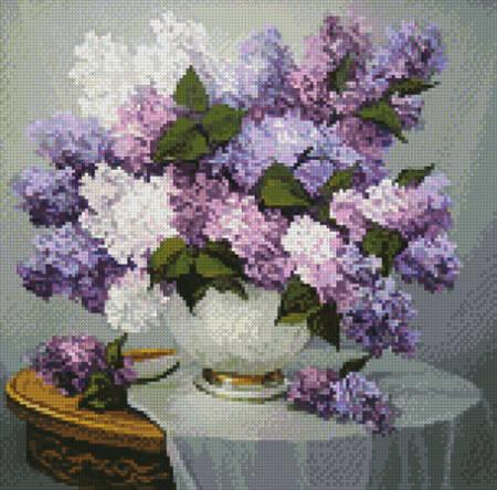 cross stitch pattern Mini Lilac Romance