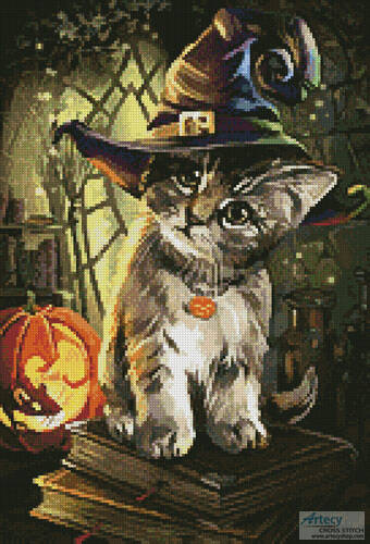 cross stitch pattern Mini Magic Cat