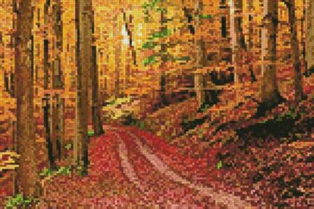 cross stitch pattern Mini Autumn Path