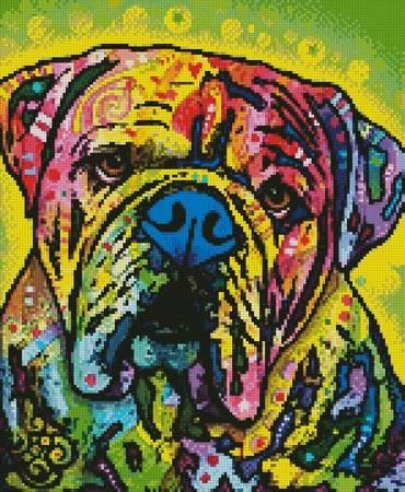 cross stitch pattern Mini Hey Bulldog
