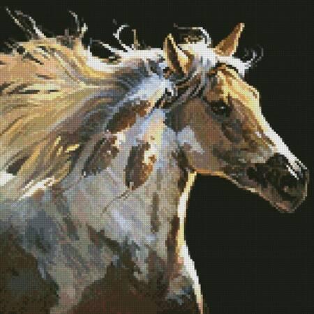 cross stitch pattern Mini Spirit Horse