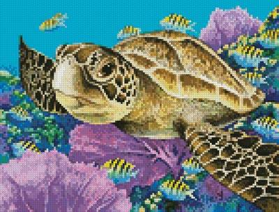 cross stitch pattern Mini Young Green Sea Turtle