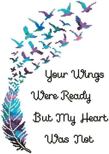 cross stitch pattern Mini Your Wings (Watercolour)