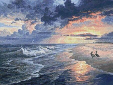 cross stitch pattern Mini Pelican Beach