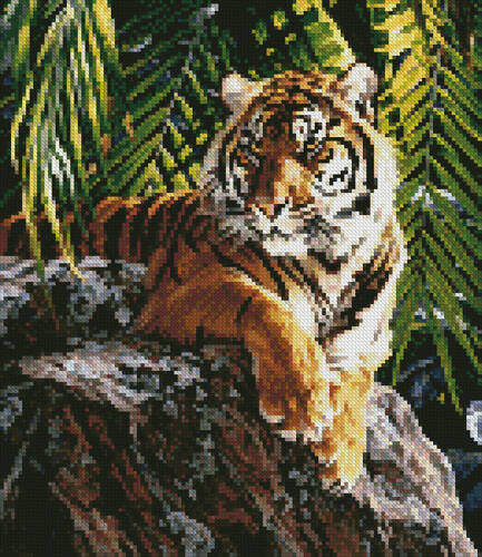 cross stitch pattern Mini Sumatran Tigress