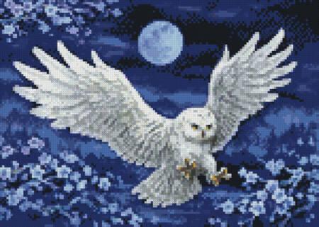 cross stitch pattern Mini White Owl