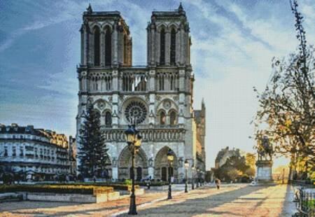 cross stitch pattern Notre Dame