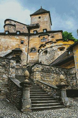 cross stitch pattern Orava Castle