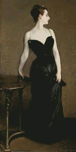 cross stitch pattern Portrait of Madame X