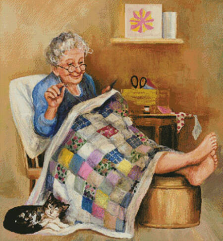 cross stitch pattern Quilting Time
