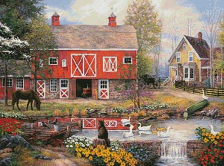 cross stitch pattern Reflections on Country Living