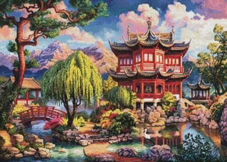 cross stitch pattern Secret Temple