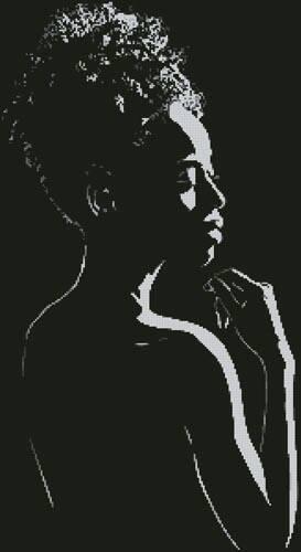 cross stitch pattern Silhouette of Woman