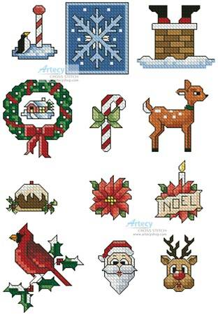 cross stitch pattern SewLittleStitches Christmas Collection 1