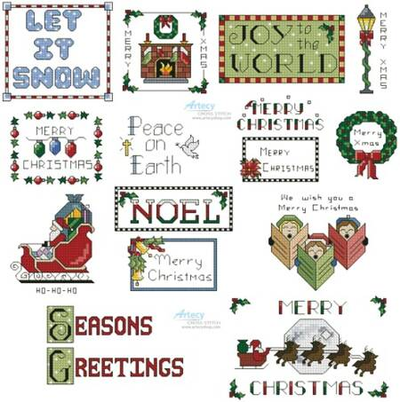 cross stitch pattern SewLittleStitches Christmas Collection 2