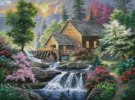 cross stitch pattern Summertime Mill