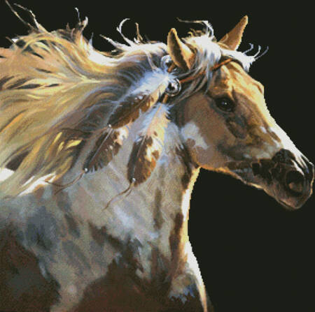cross stitch pattern Spirit Horse (No Background)