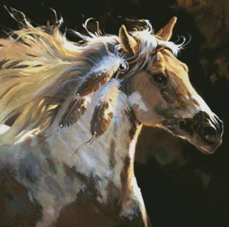 cross stitch pattern Spirit Horse