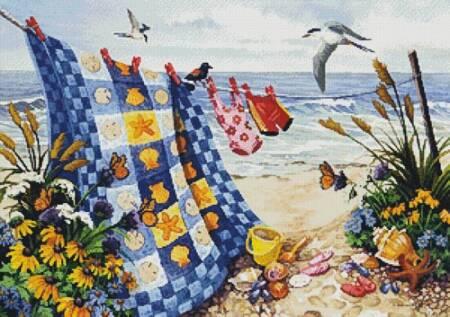 cross stitch pattern Seaside Summer