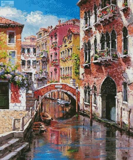 cross stitch pattern Venice