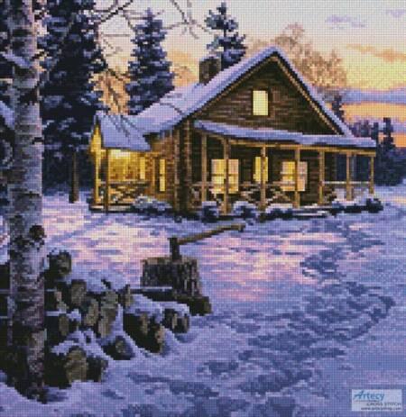 cross stitch pattern Winter Bliss (Crop)