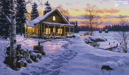 cross stitch pattern Winter Bliss
