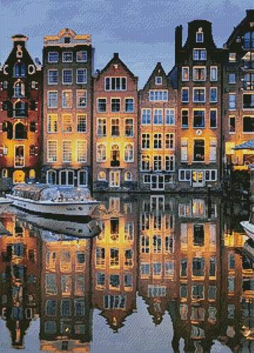 cross stitch pattern Amsterdam Reflections