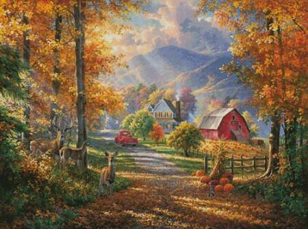 cross stitch pattern Fall Memories (Large)