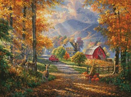 cross stitch pattern Fall Memories
