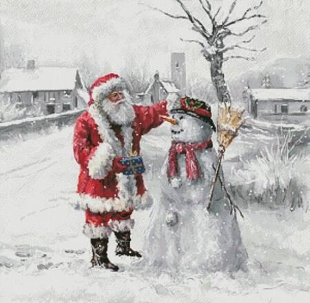 cross stitch pattern Festive Frosty