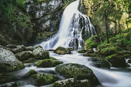 cross stitch pattern Gollinger Waterfall