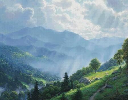 cross stitch pattern Great Smoky Mountains (Large)