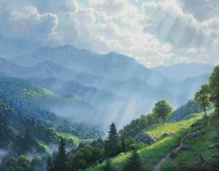 cross stitch pattern Great Smoky Mountains