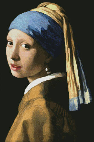 cross stitch pattern Girl with a Pearl Earring 2