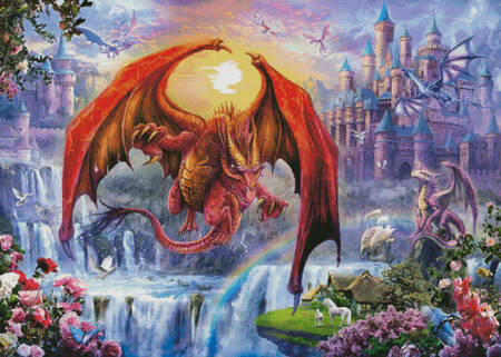 cross stitch pattern Kingdom with Dragons (Large)