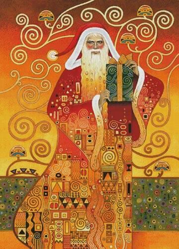 cross stitch pattern Klimt Santa (Large)