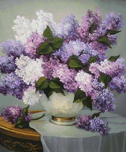 cross stitch pattern Lilac Romance (Medium)