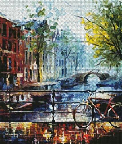 cross stitch pattern Mini Bicycle in Amsterdam