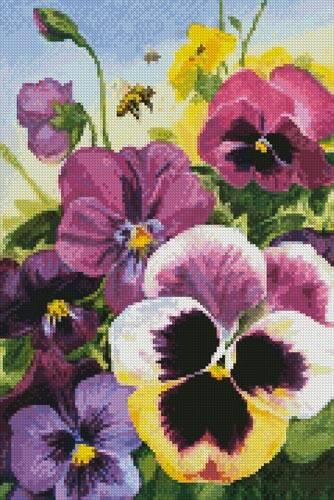 cross stitch pattern Mini Big Bold Pansy