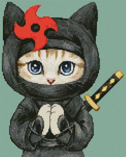 cross stitch pattern Mini Cat 42