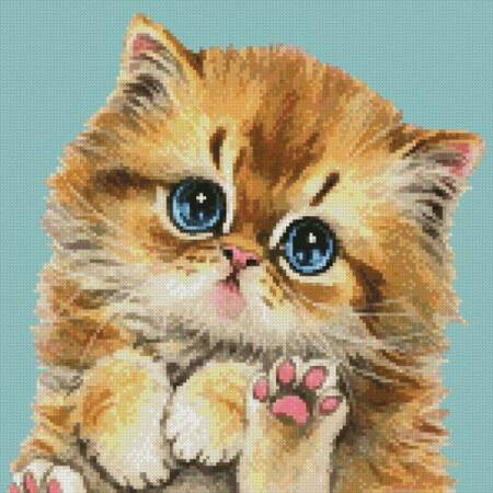cross stitch pattern Mini Cat 114