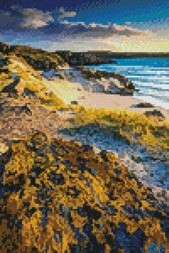 cross stitch pattern Mini Evening Light on Uig Bay