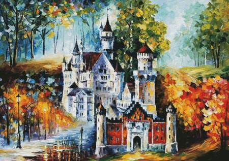 cross stitch pattern Magical Castle (Large)