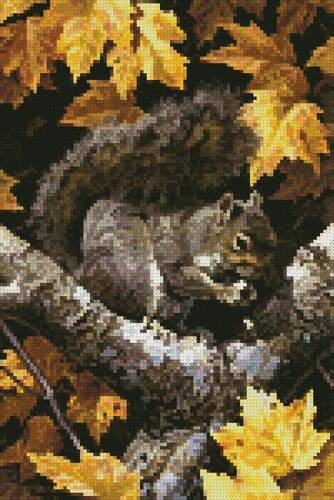 cross stitch pattern Mini Golden Season