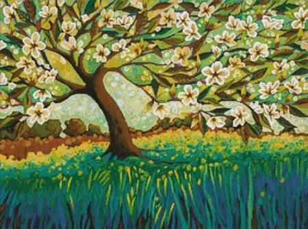 cross stitch pattern Magnolian Grace