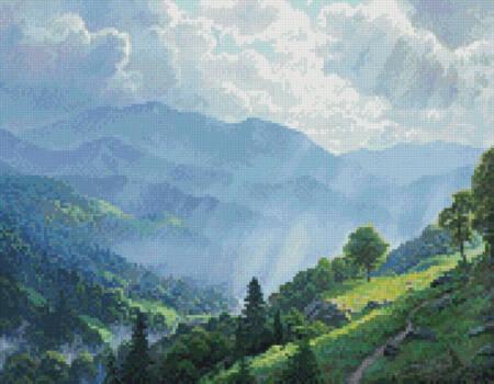 cross stitch pattern Mini Great Smoky Mountains